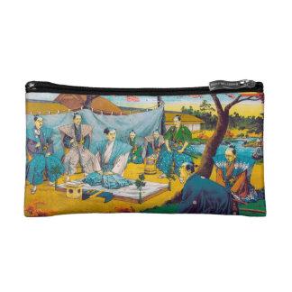 Classic historical painting Japan Bushido paragon Makeup Bag