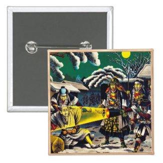 Classic historical painting Japan Bushido paragon Pinback Buttons