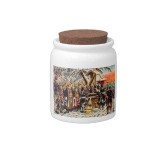 Classic historical painting Japan Bushido paragon Candy Jars