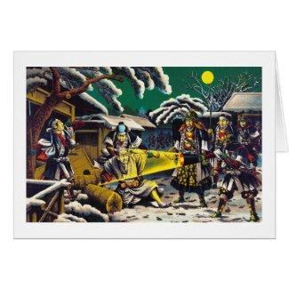 Classic historical painting Japan Bushido paragon Greeting Cards