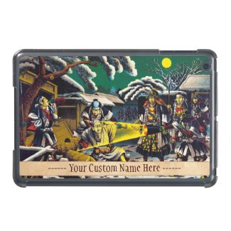Classic historical painting Japan Bushido paragon Case For iPad Mini