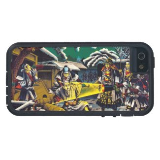 Classic historical painting Japan Bushido paragon iPhone 5/5S Cases