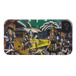 Classic historical painting Japan Bushido paragon iPhone 4 Case-Mate Cases