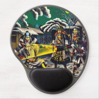 Classic historical painting Japan Bushido paragon Gel Mouse Mats