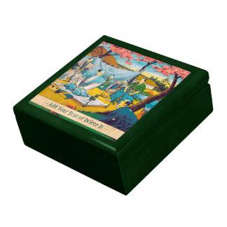 Classic historical painting Japan Bushido paragon Jewelry Box
