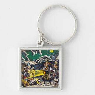Classic historical painting Japan Bushido paragon Key Chain