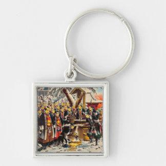 Classic historical painting Japan Bushido paragon Keychains