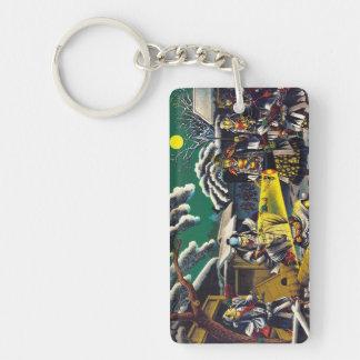 Classic historical painting Japan Bushido paragon Rectangle Acrylic Key Chain