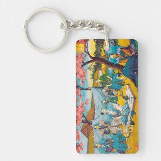 Classic historical painting Japan Bushido paragon Rectangle Acrylic Keychain