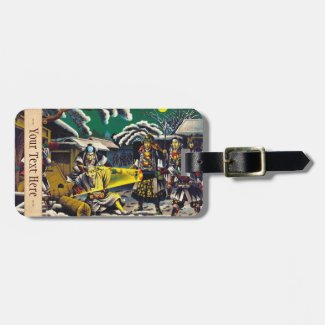 Classic historical painting Japan Bushido paragon Tag For Luggage