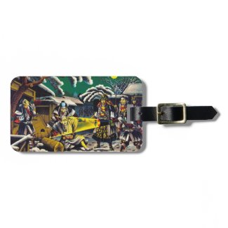Classic historical painting Japan Bushido paragon Travel Bag Tags