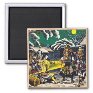 Classic historical painting Japan Bushido paragon Fridge Magnet