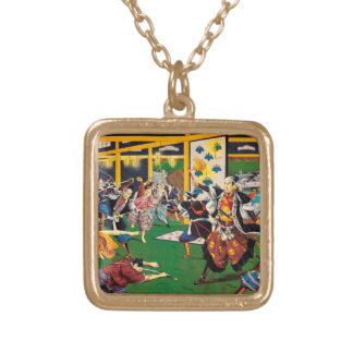 Classic historical painting Japan Bushido paragon Personalized Necklace