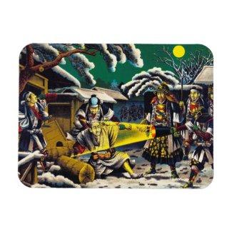 Classic historical painting Japan Bushido paragon Magnets
