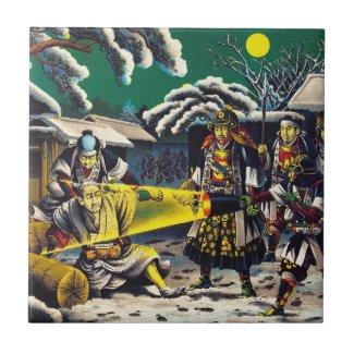 Classic historical painting Japan Bushido paragon Ceramic Tile