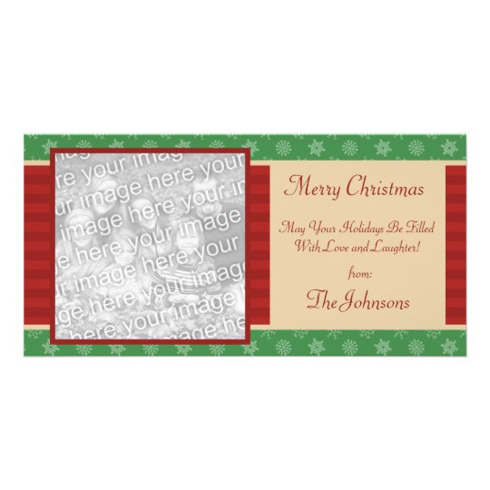 Classic Holiday Christmas Photo Card
