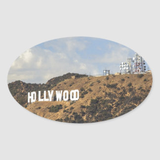 Classic Hollywood Sign Oval Sticker
