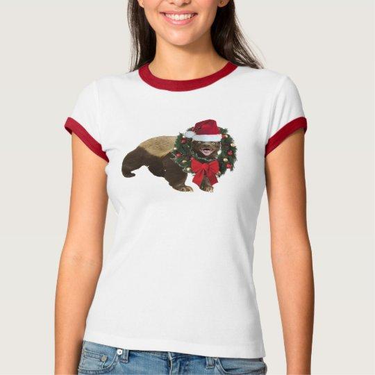 Classic Honey Badger Merry Christmas Shirt