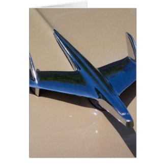 classic hood ornament with beigh background card