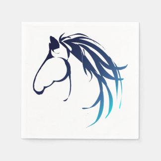 Classic Horse Head Logo in Blue Napkin