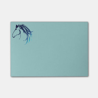 Classic Horse Head Logo in Blue Post-it® Notes