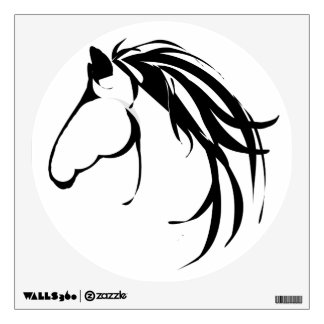 Classic  Horse Head Logo Wall Decal