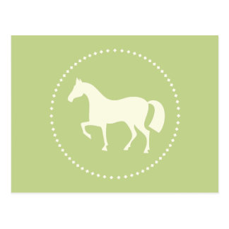 Classic horse/pony silhouette postcards (green)