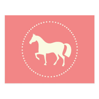 Classic horse/pony silhouette postcards (pink)