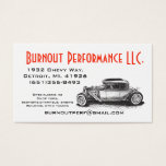 chevy, hot, rod, rat, business card, auto, shop,