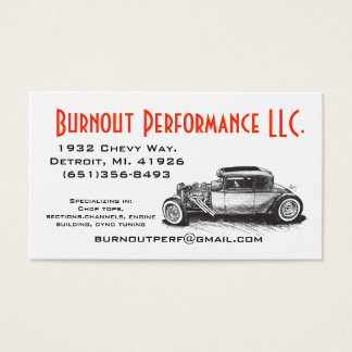 Classic Hot Rod Business Card