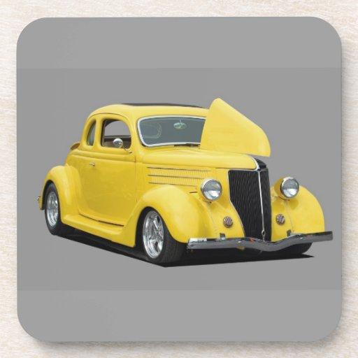 Classic Hot-Rod Car Coasters