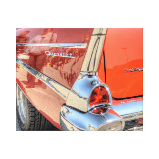 Classic Hot rod rear end view Canvas Print
