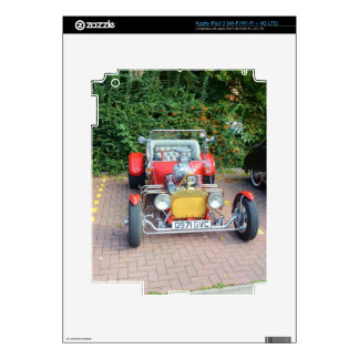 Classic Hot Rod Roadster Decal For iPad 3
