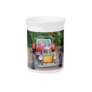 Classic Hot Rod Roadster Drink Pitcher