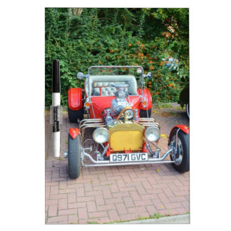 Classic Hot Rod Roadster Dry-Erase Board