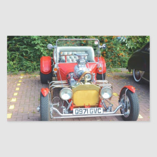 Classic Hot Rod Roadster Rectangular Sticker