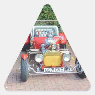 Classic Hot Rod Roadster Triangle Sticker
