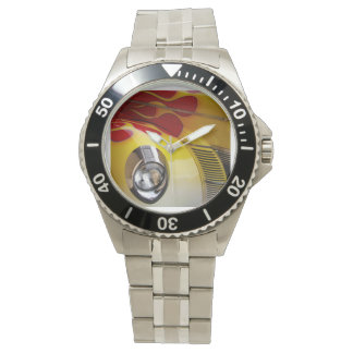 Classic Hot Rod with Flames Wrist Watch