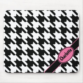 Classic Houndstooth Mouse Pad