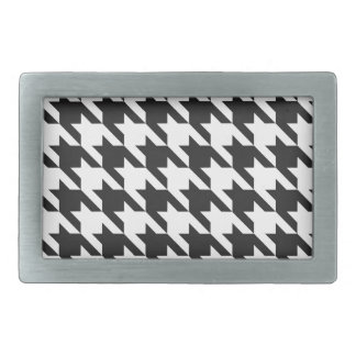 Classic Houndstooth Rectangular Belt Buckle