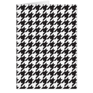 classic houndstooth style print card