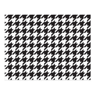 classic houndstooth style print postcard
