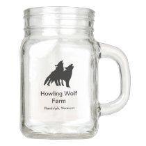 Classic Howling Wolf Mason Jar