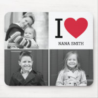 Classic I Heart Photo Mouse Pad