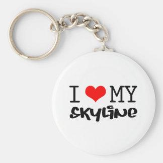 "Classic ""I Love My Skyline"" design Basic Round Button Keychain"