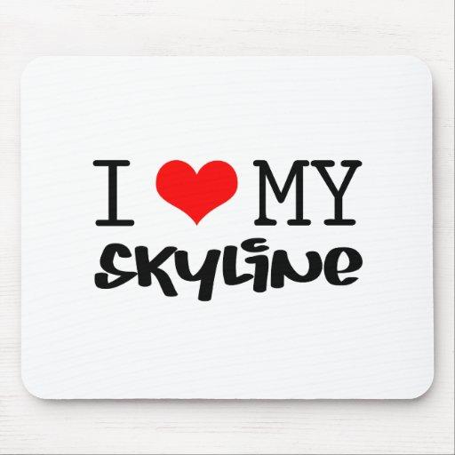 "Classic ""I Love My Skyline"" design Mouse Pad"
