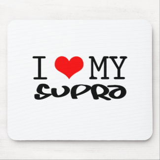 "Classic ""I Love My Supra"" design Mouse Mats"