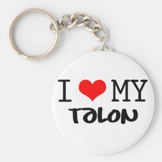 "Classic ""I Love My Talon"" design Basic Round Button Keychain"