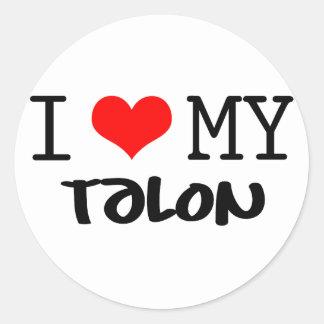 """Classic """"I Love My Talon"""" design Classic Round Sticker"""