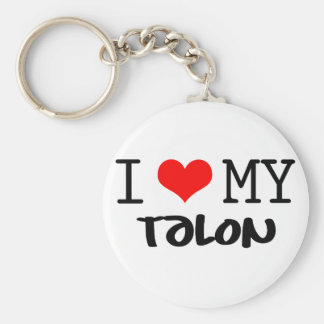 "Classic ""I Love My Talon"" design Keychain"